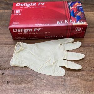 Plasma Elite non-powdered Vinyl Gloves graphic